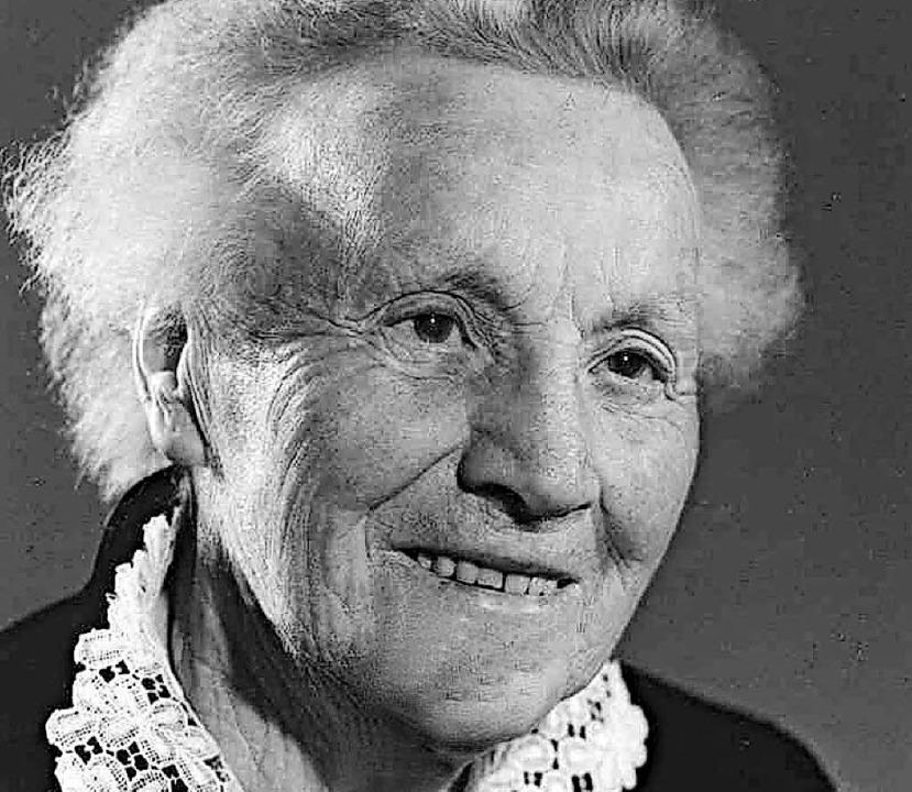 Lisa Rees-Stier (1872-1976)    Foto: zvg