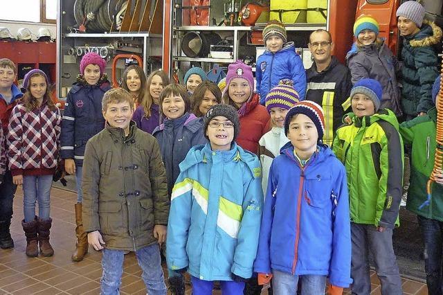 Lehrreicher Besuch bei der Feuerwehr in Ühlingen