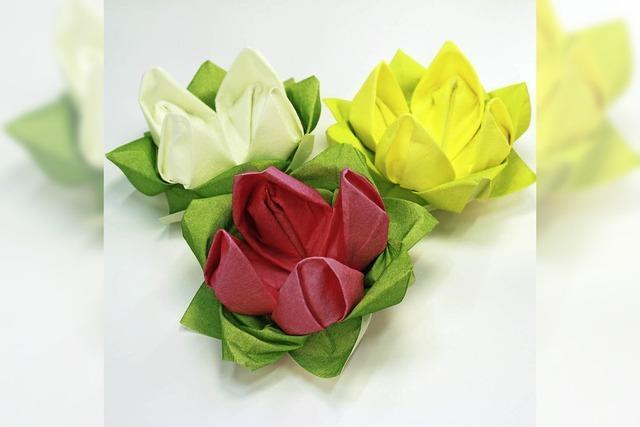 Einführung in die Kunst des Origami in der Stadtbücherei Bad Säckingen