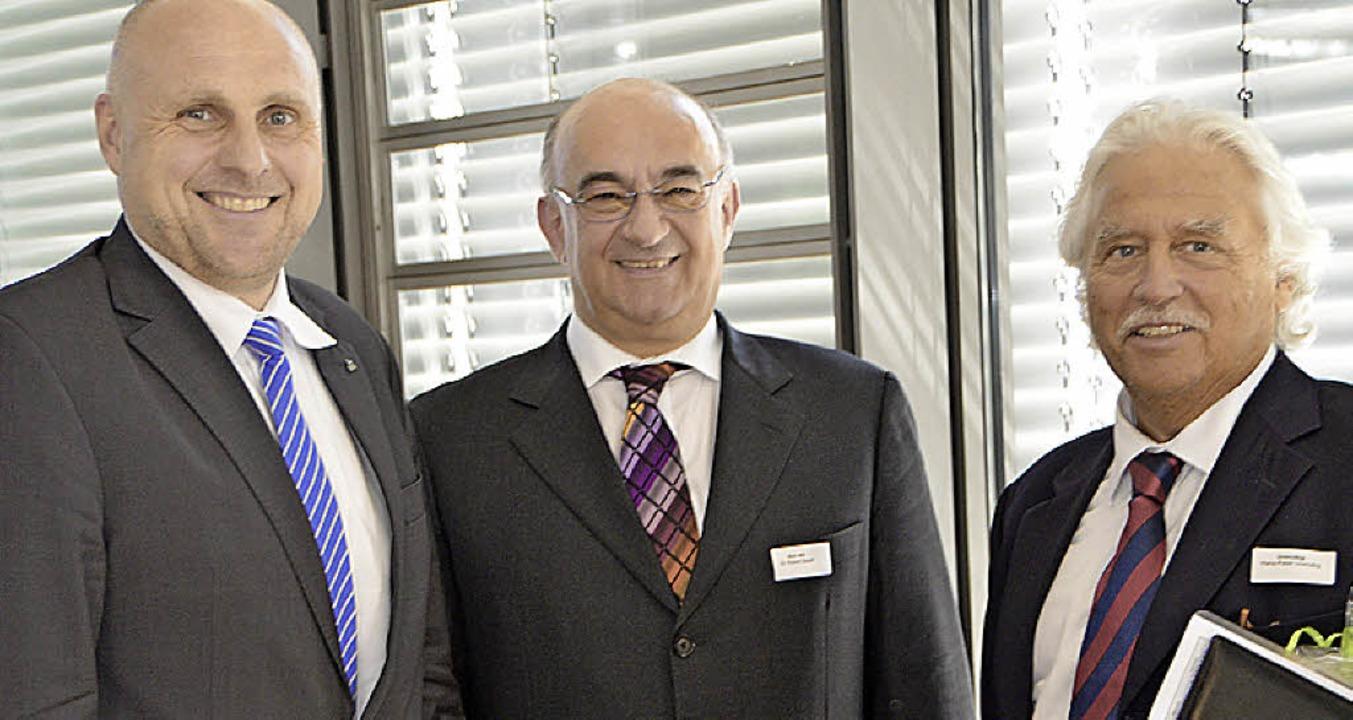 Sie sprachen beim Wirtschaftsbankett: ...ickler Hans-Peter Unmüßig (von links).  | Foto: Gerhard Walser