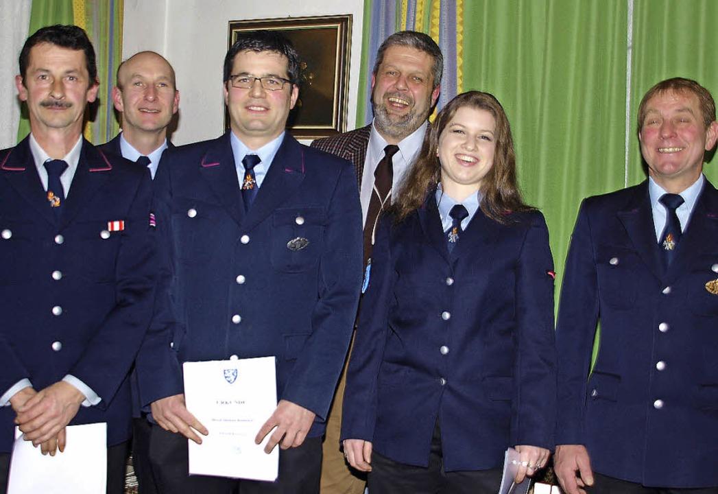 Dieter Albert, Michel Rombach und Ther...sjörg Ketterer (rechts) gratulierten.   | Foto: Daniele Schüle
