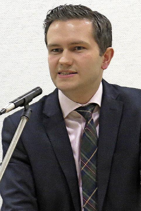 Thomas Volk bei seinem Vortrag  | Foto: Georg Voß