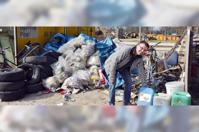 Weniger Helfer gegen den Müll