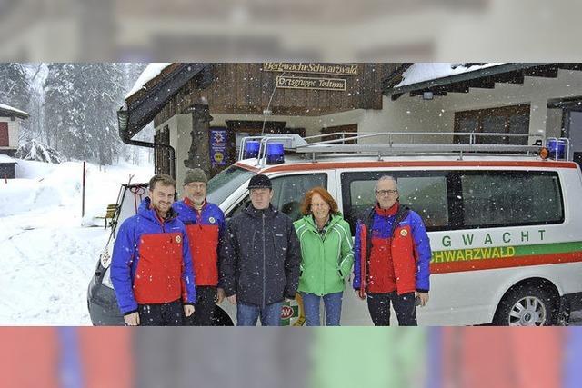 Die Bergwacht Schwarzwald ist mittlerweile ganzjährig im Einsatz