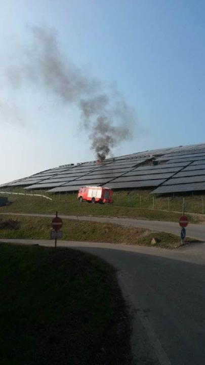 Ein Brand hat die Solaranlage am Freib...Eichelbuck in Mitleidenschaft gezogen.    Foto: privat