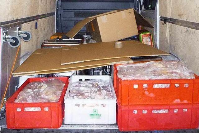 Schweizer wollten über 730 Kilogramm Fleisch schmuggeln