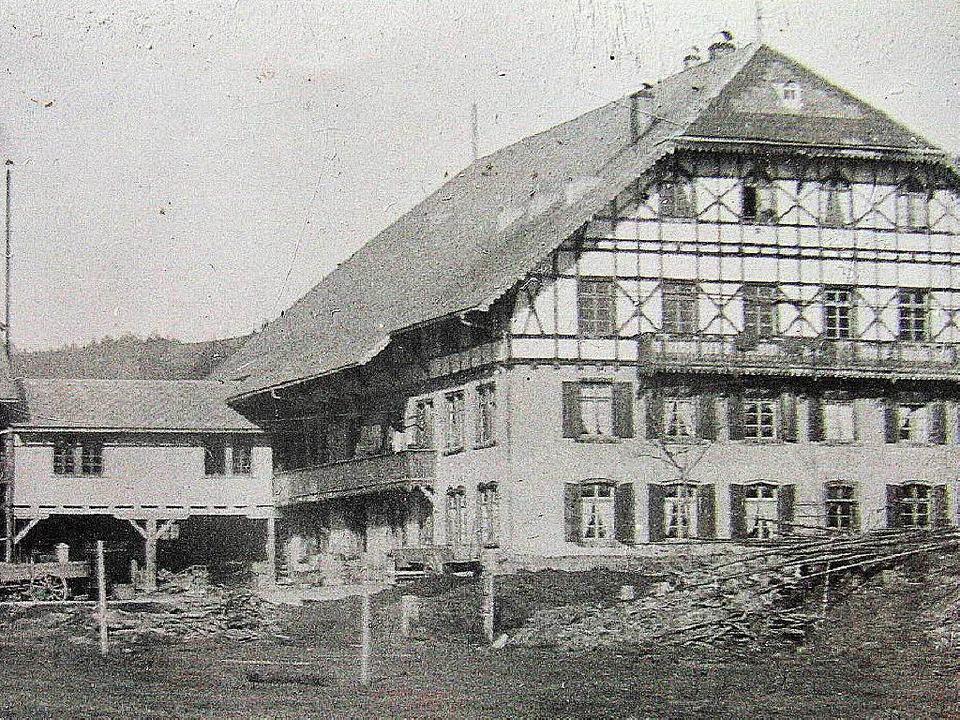 So sah der mächtige Wangerhof einst au...jähriger Junge  kam damals ums Leben.   | Foto: Archiv Haderer