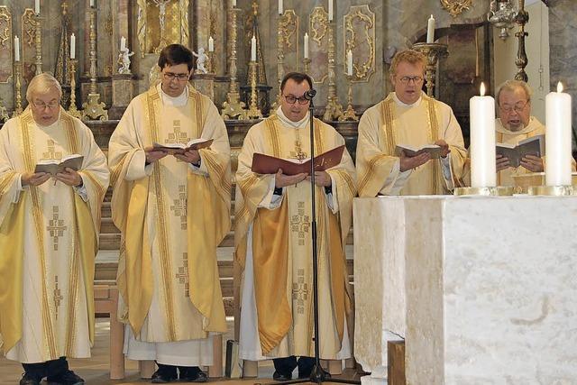 Bei der Kirchweih gab es drei Päpste