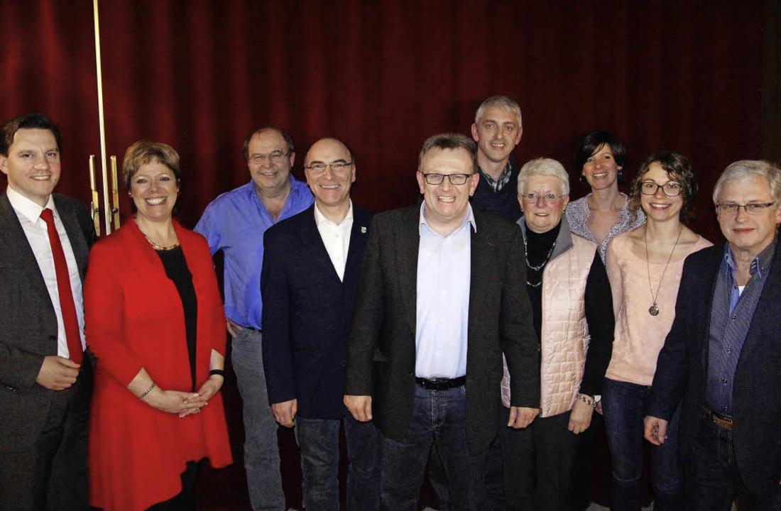 SPD unter sich: Bundestagsabgeordneter...ar Klausmann (von links nach rechts).   | Foto: Roland Gutjahr