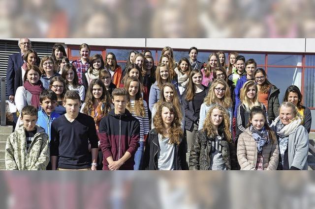 19 Jugendliche aus Bains-les-Bains zu Gast
