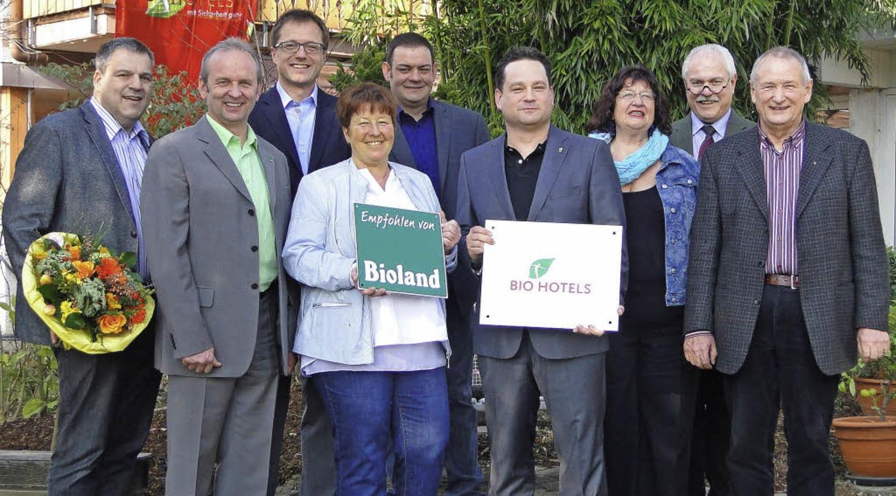 Baden-Württembergs Landwirtschaftsmini...und Handel das Bio-Hotel in Achkarren.  | Foto: Elisabeth Saller