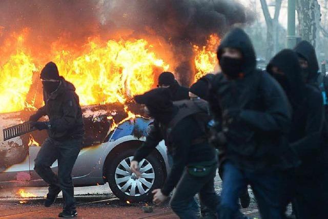 Krawalle bestimmen Protest gegen EZB