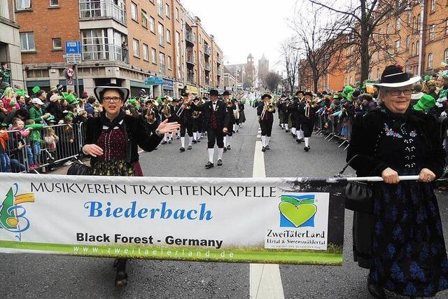 Trachtenkapelle Biederbach rockt St.-Patricks-Day in Dublin