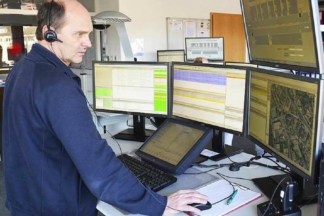 So arbeitet die Integrierte Leitstelle in Emmendingen