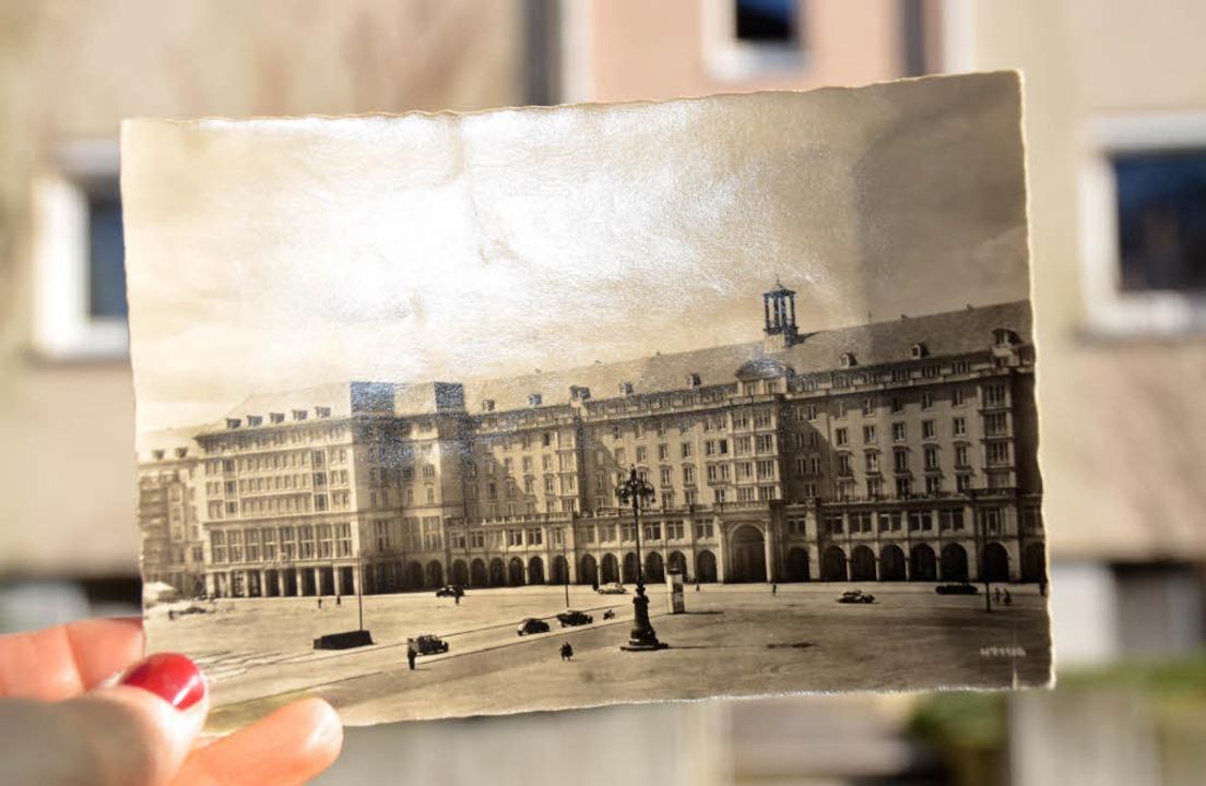 1958 wurde die Postkarte von Dresden n...hr über die Empfänger herauszufinden.     Foto: Monique Reinbold