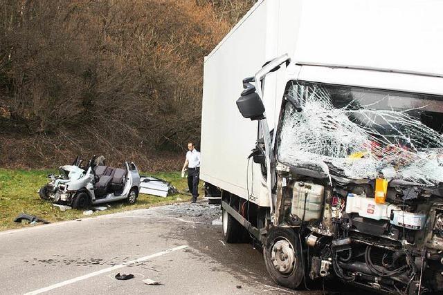 Schwerer Unfall auf B518
