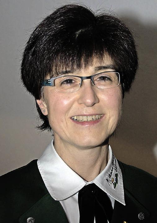 Die erste Ehrenmusikerin: Jutta Kern vom Musikverein Freundschaft     Foto: Christian ringwald