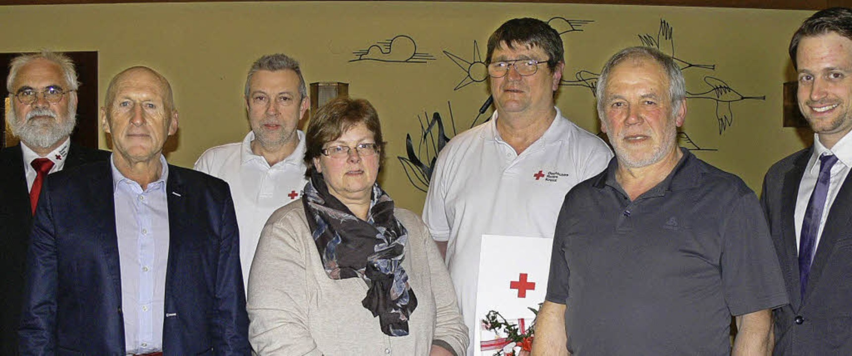 Abschied und Ehrungen (von links): Vor...Kreisgeschäftsführer Felix Brenneisen.    Foto: Dieter Fink