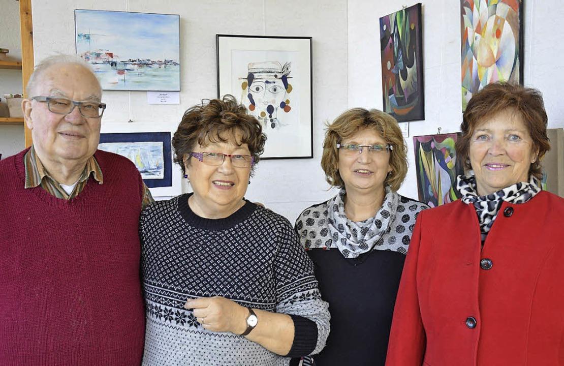 Ausstellung: Waldemar Dinkat, Ursula C...er, die bis zum 9. Mai zu sehen sind.   | Foto: Georg Diehl