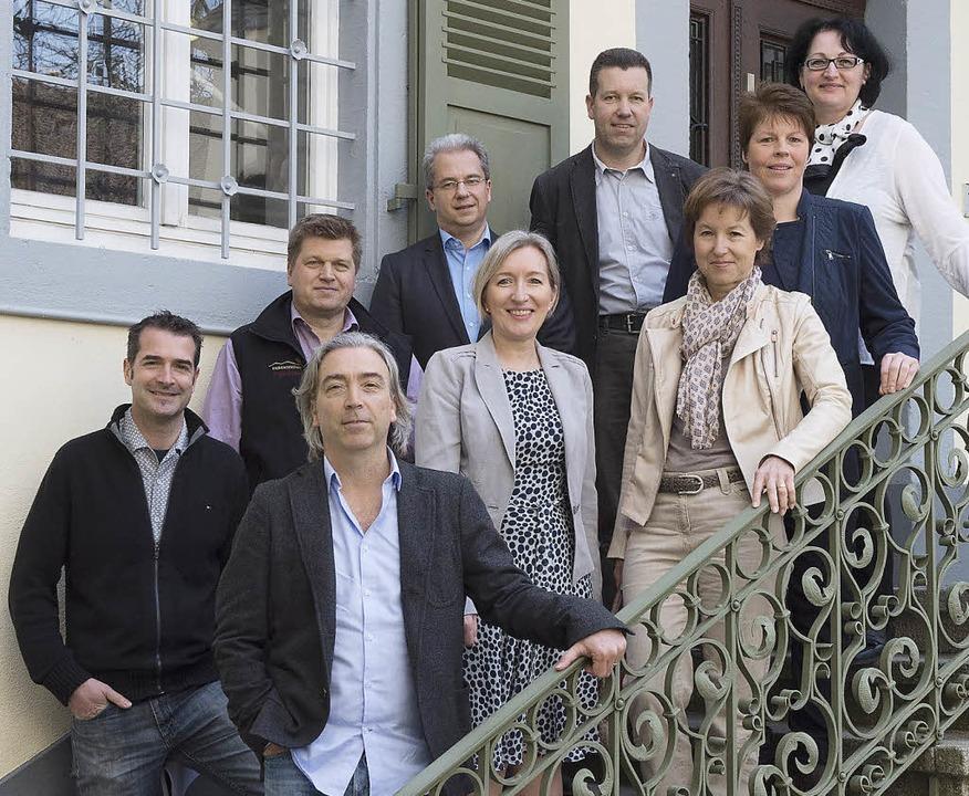 Der Autor und die Partner haben das ne...t integriertem Weinkrimi vorgestellt.   | Foto: volker münch