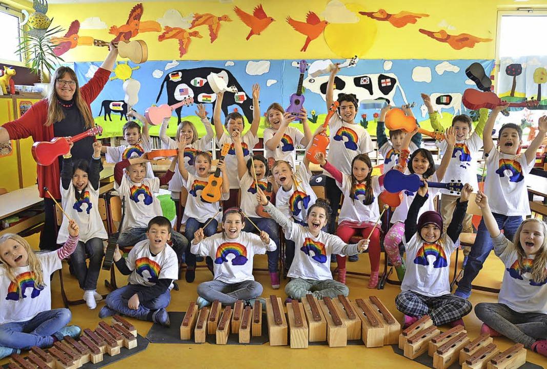 Die Heitersheimer Drittklässler sind b...ber den Europäischen Schulmusikpreis.   | Foto: anna-pia thiele