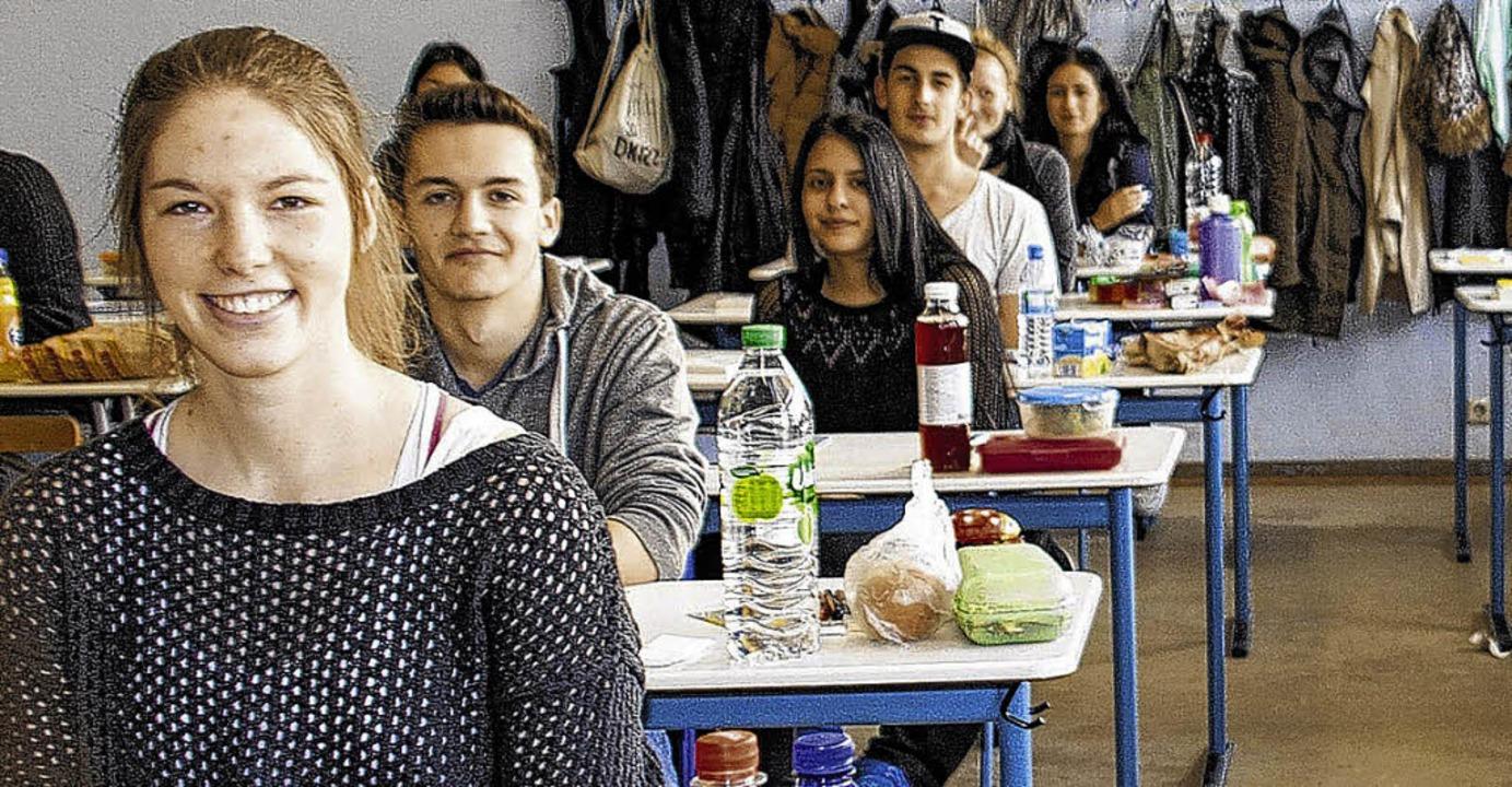 Die Schüler der Klasse K2 am Hochrhein-Gymnasium   | Foto: Peter Rosa