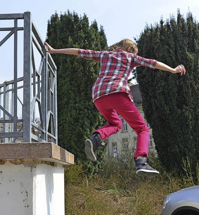 <ppp> und springt  wieder runter</ppp>    Foto: Privat