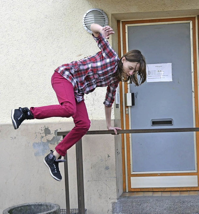 Ein Geländer ist immer willkommen    Foto: Privat