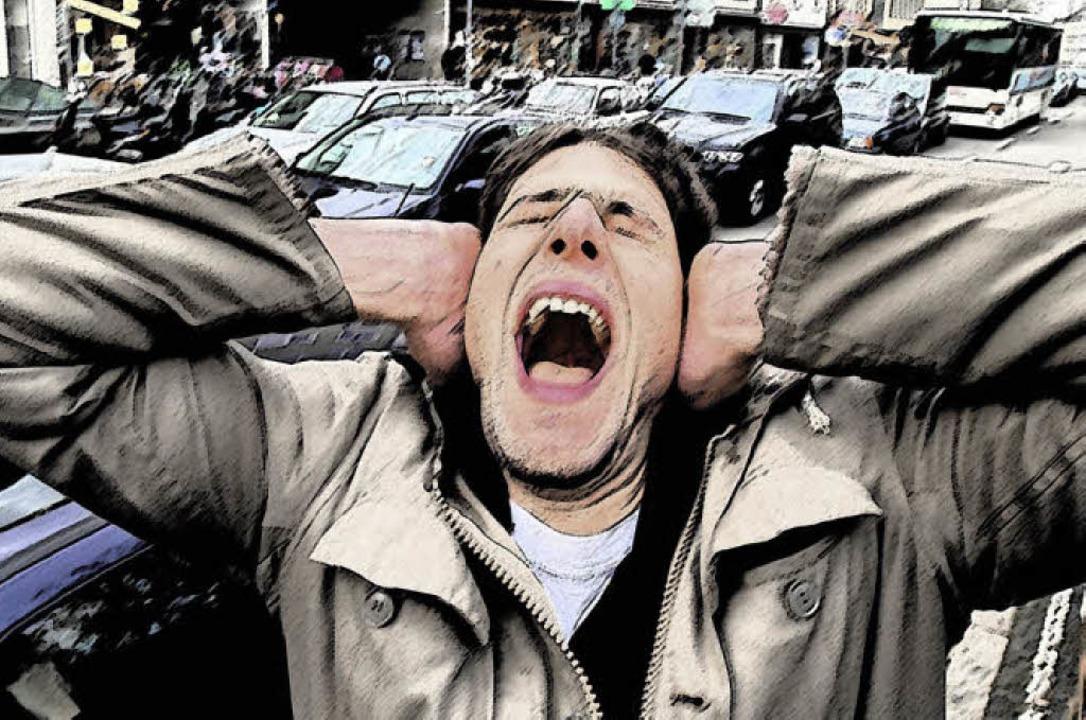 Ruhe bitte: Lärm kann krank machen, besonders Verkehrslärm.     Foto: Ingo Schneider
