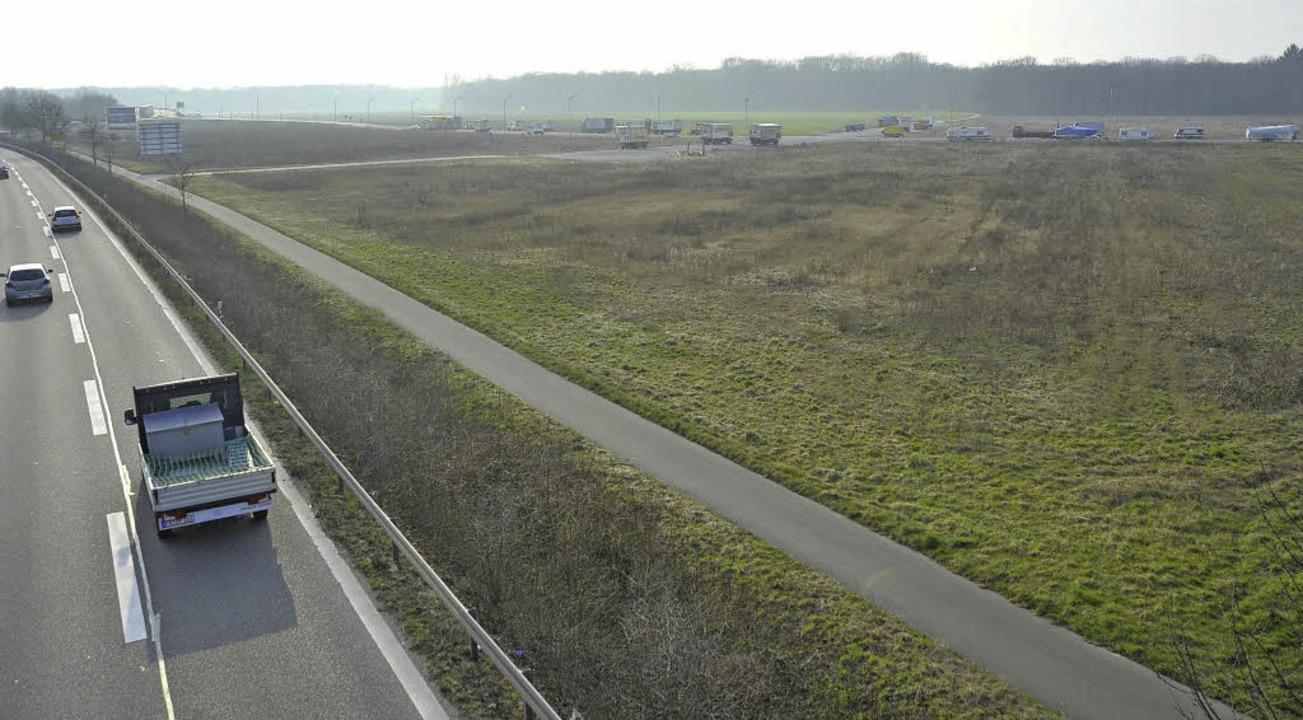 "Quer durch das Gewerbegebiet Haid-Süd ...d"",  Richtung Mooswald  führen.   | Foto: Michael Bamberger"