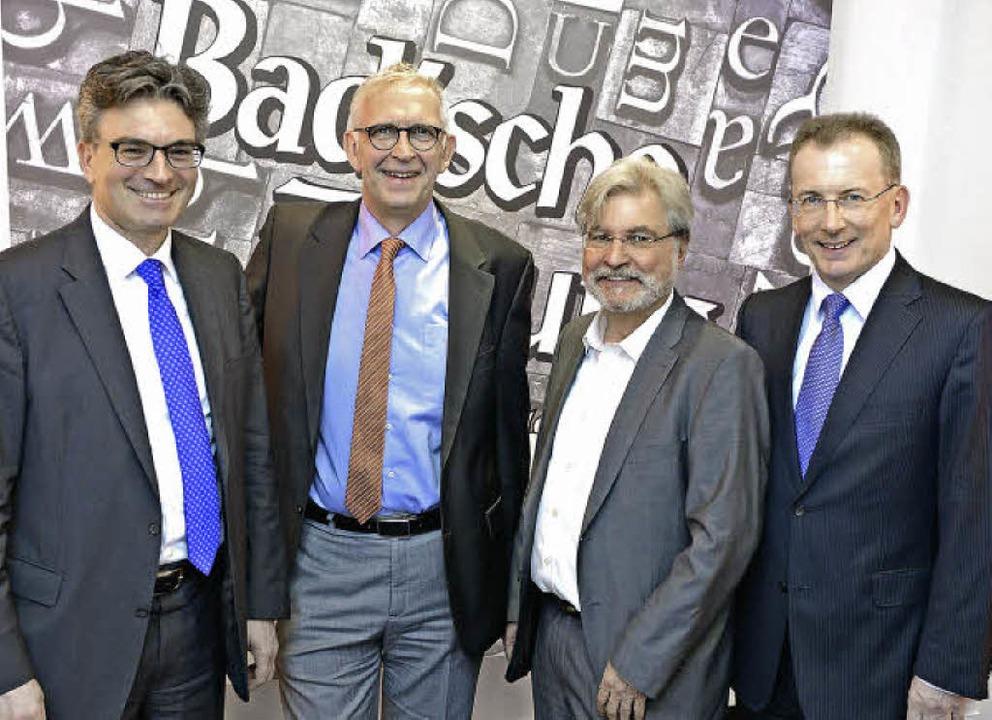 Die Wirtschaftsförderung Region Freibu... und BZ-Geschäftsführer Hans-Otto Holz    Foto: Rita Eggstein