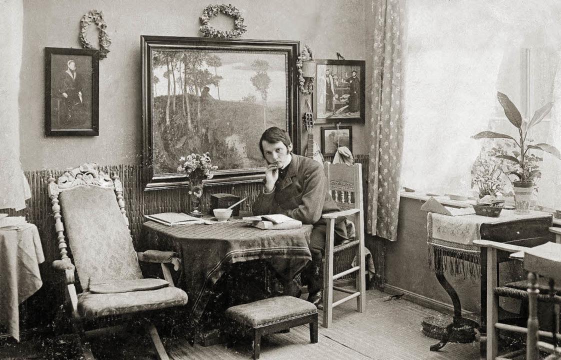 Eine Idylle, die ihm später suspekt wu...r 1904 in seinem Atelier in Worpswede   | Foto: ullstein