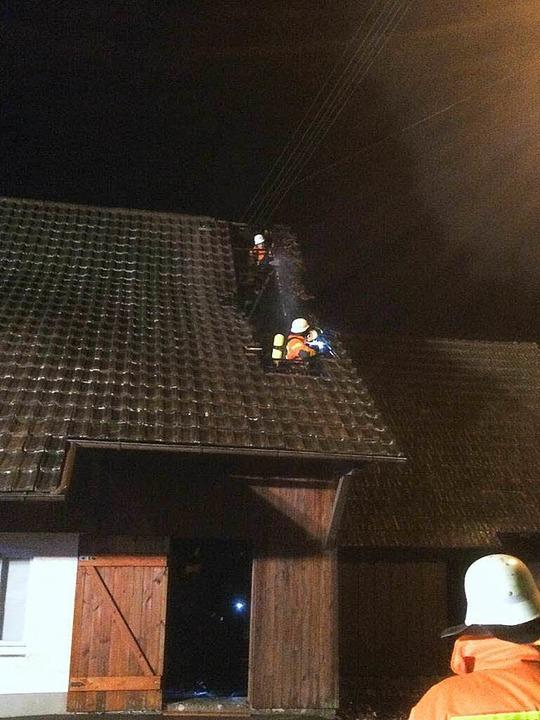 Feuerwehr Freiamt: EInsatz im Niedertal    Foto: Michael Hilbert