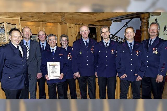 Der Feuerwehr seit Jahrzehnten treu