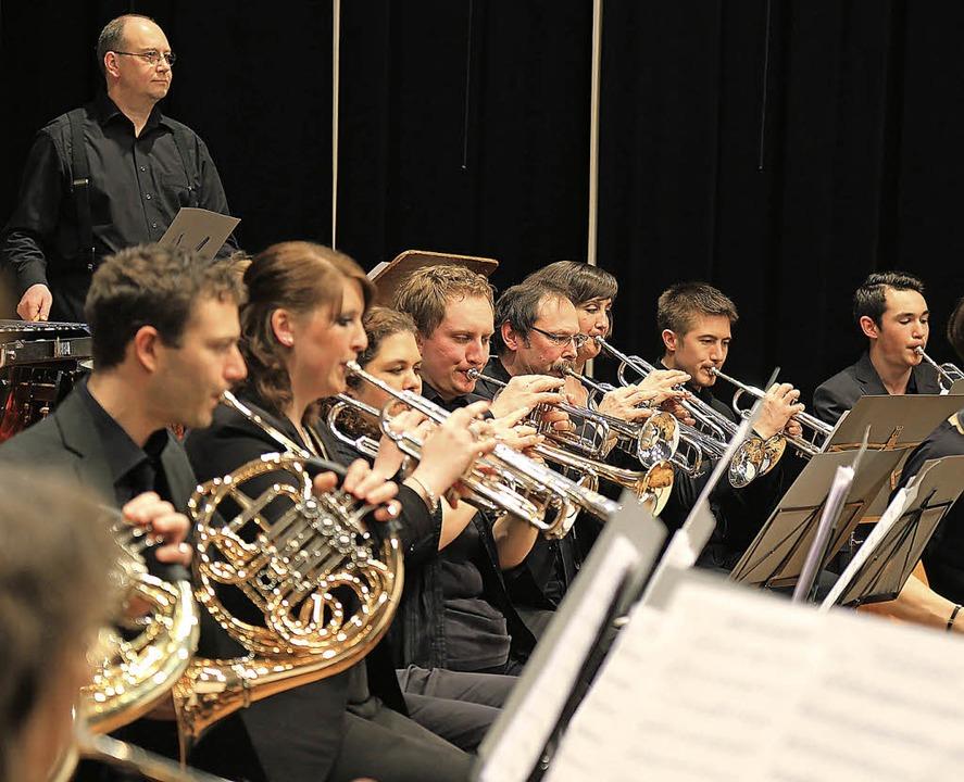 Nicht nur die Musiker an Trompete und ...rskonzert des Mahlberger Musikvereins.    Foto: S: Decoux-Kone