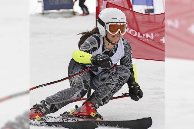 Lena Soehnle fährt im Slalom aufs Podest