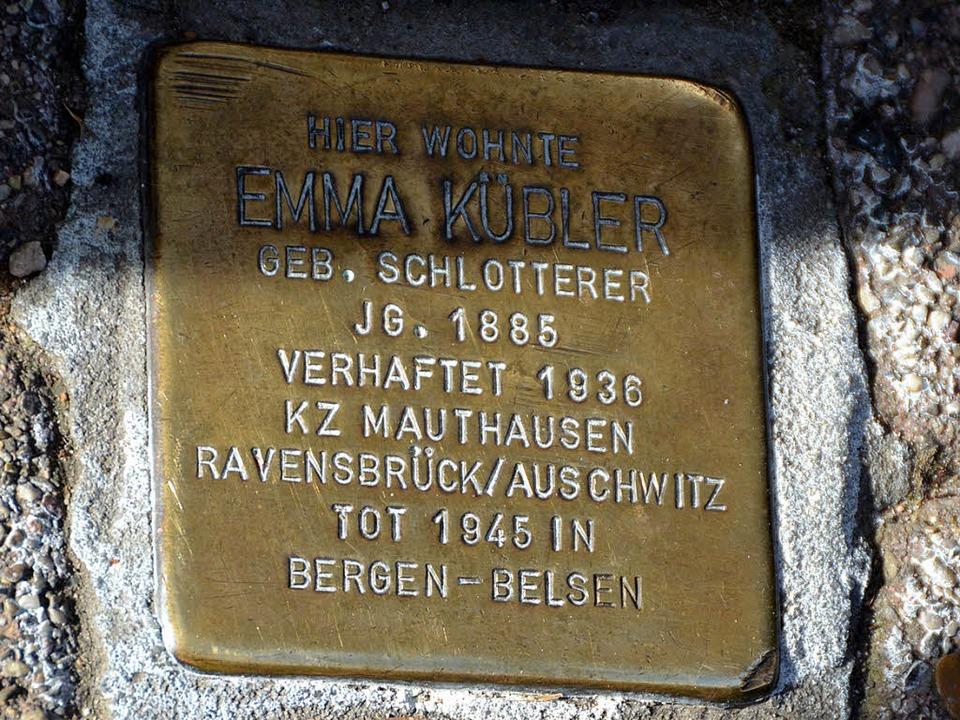 Einer von acht Stolpersteinen in Badenweiler   | Foto: Sigird Umiger