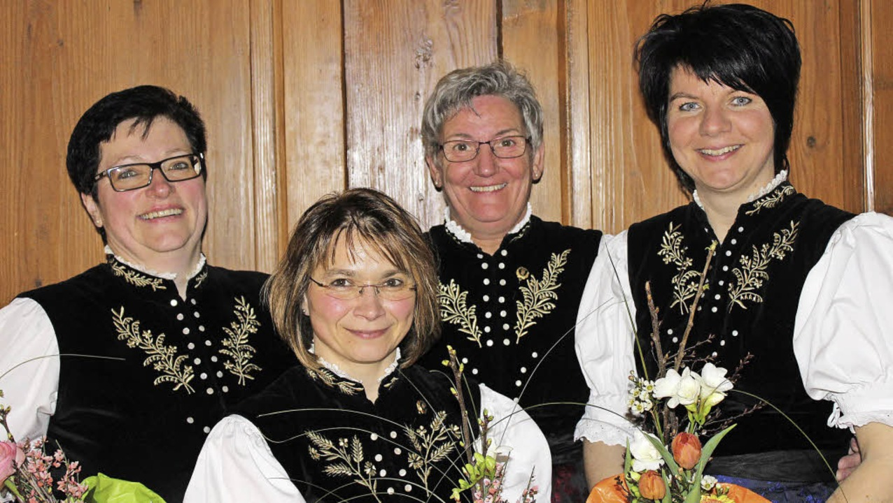 Petra Hohlfeld, Ivonne Stoll, Klaritta Wehrle und Simone Keller (geehrten)  | Foto: Dennis Wipf