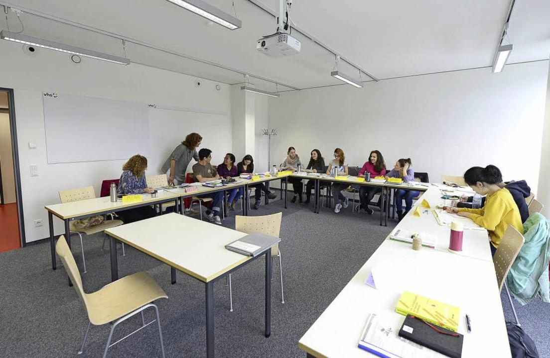 Ein Kurs an der Freiburger Volkshochsc...Die Nachfrage könnte künftig wachsen.   | Foto: Ingo Schneider