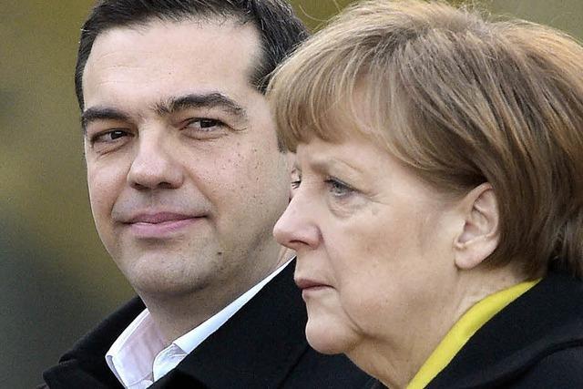 Tsipras und Merkel suchen den Dialog