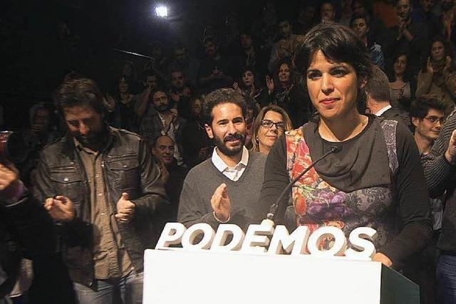 Spaniens linke Protestpartei Podemos enttäuscht