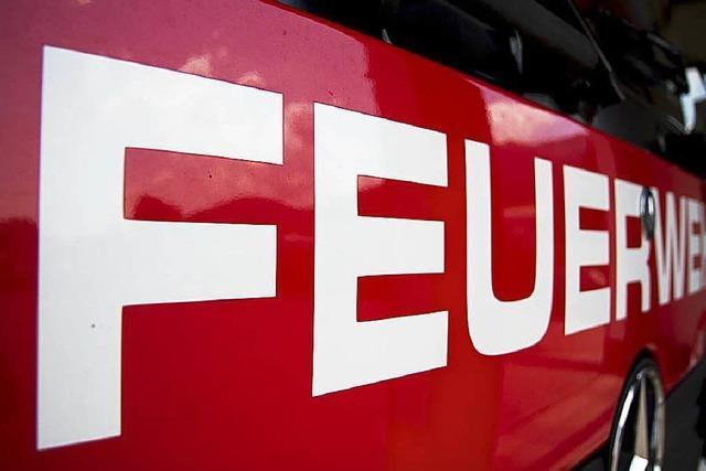 Kellerbrand in einem Wohnblock in Freiburg-Weingarten