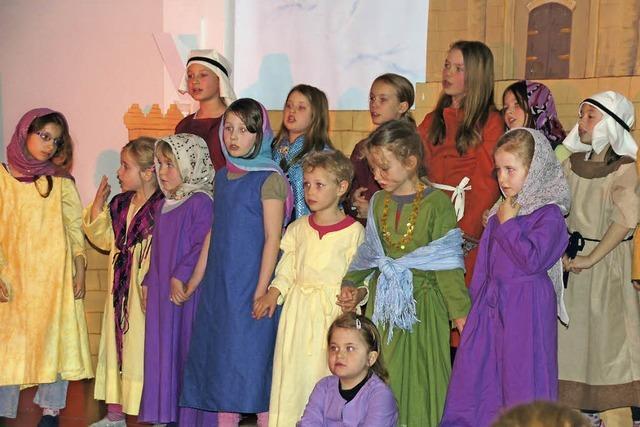 Viel Beifall für die Akteure des Kinderchors