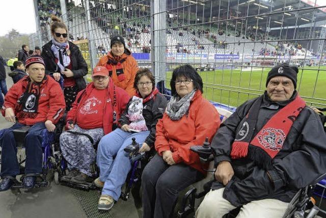 Die Breisgauflitzer sind der Rollstuhlfahrer-Fanclub des SC Freiburg