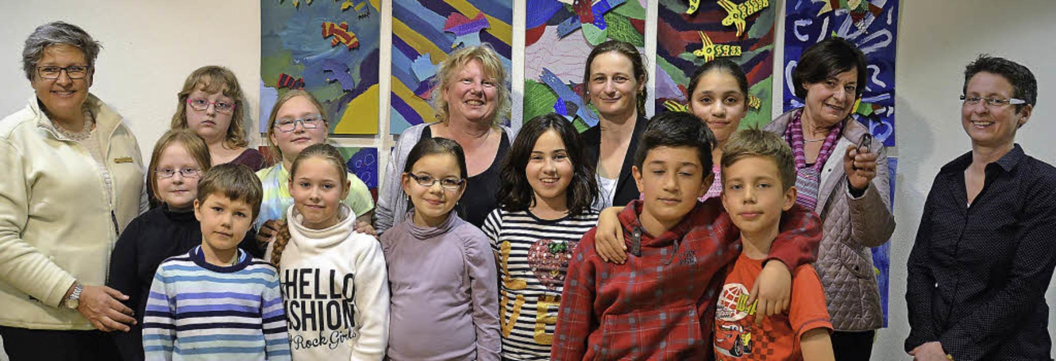 Zehn Viertklässler der Astrid-Lindgren...imone Krippl (Konrad-Adenauer-Schule)   | Foto: Gina Kutkat