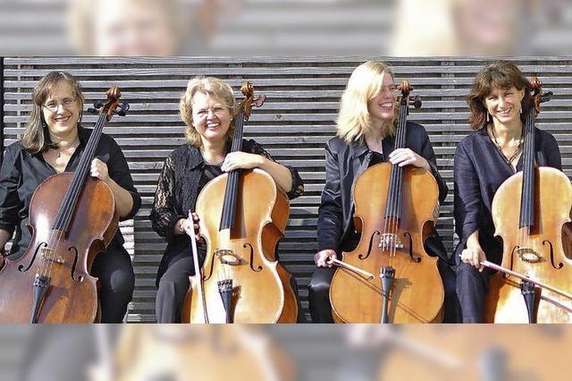 Celloquartett im Kunstpalais in Badenweiler
