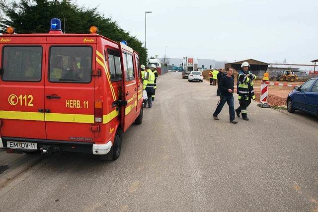 Experten schließen Leck in Gasleitung in Herbolzheim