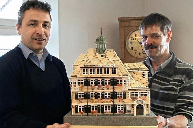 Rathaus aus Streichhölzern