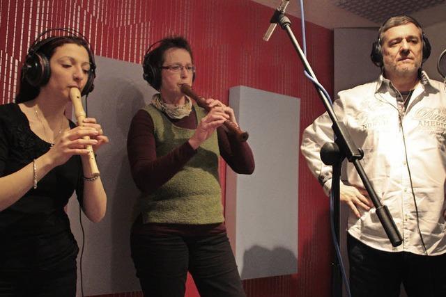 Die Spielleute entern ein Tonstudio