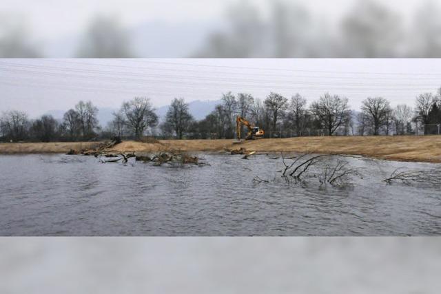 Flaches Ufer für besseres Wasser